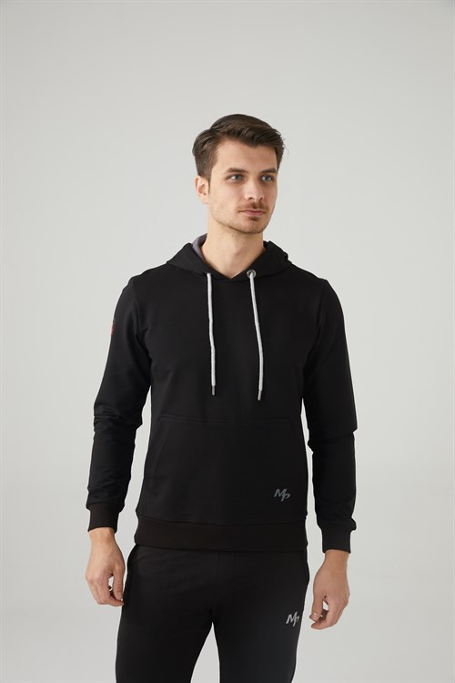 Mp Men'S Hooded Black Sweatshirt Textile 201-5001MR 100
