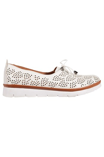 Mp Club Women Leather White Casual Shoes 201-4110ZN 650