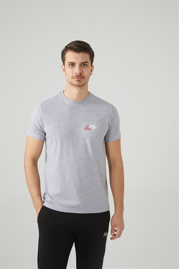 Mp MenS Bicycle Collar Grey T-Shirt Textile 201-5011MR 550