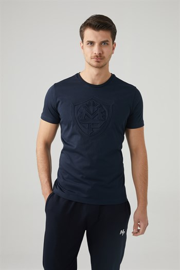 Mp MenS Bicycle Collar Navy Blue T-Shirt Textile 201-5010MR 300