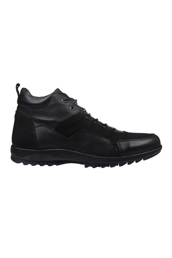 Mp Mens Leather Lace-Up Black Boots Shoes 202-4101MR 100