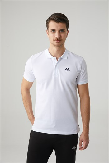 Mp Men Polo Neck White T-Shirt Textile 201-5005MR 650