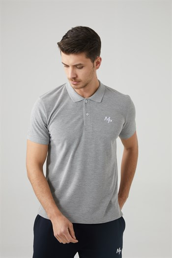 Mp MenS Polo Neck Grey T-Shirt Textile 201-5005MR 550