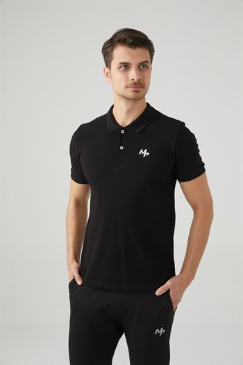 Mp Men Polo Neck Black T-Shirt Textile 201-5005MR 100