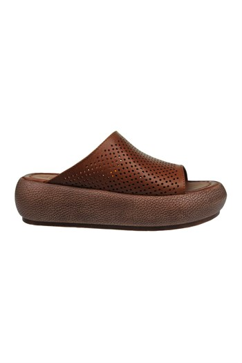Mp WomenS Leather Tan Slippers L Shoes 211-4351ZN 600