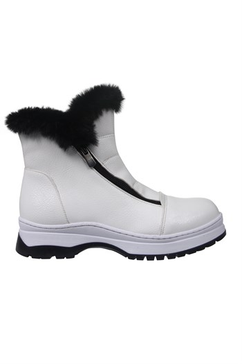 Mp One Kinds Zipper White Boots Shoes 202-3154FT 650